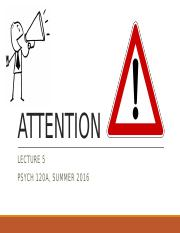 lecture5 - attention