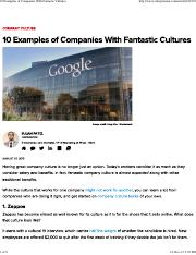 10 Examples of Companies With Fantastic Cultures.pdf