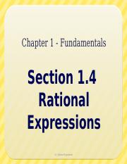 1.4 - Rational Expressions