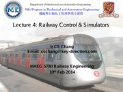 Lecture 4 - Railway Control and Simulators v1.0
