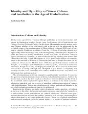 Idendiey and Hybridity - Chinese Culture and Aesthetics in the Age of Globalization.pdf