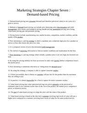 Chapter Seven - Demand-based Pricing