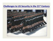 Challenges to US Security