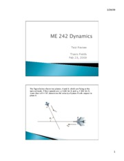 ME 242 Test Review 2.23