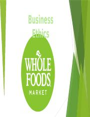 Whole Food business Ethics