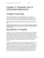 Chapter 2-Strategic Use of Information Resources.docx