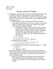 Factor a Sum of Cubes