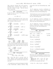 HW10 Kinetics II-solutions