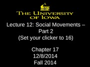 Lecture 12 - social movements - Part 2