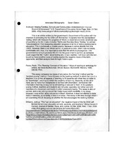 documented argument - annotated bibliography