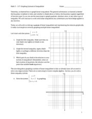 117 graphing systems of linear inequalities
