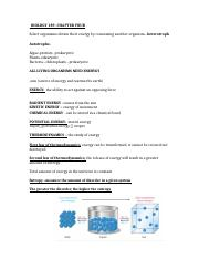 BIOLOGY 189 CHAPTER FOUR NOTES .docx