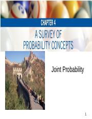 Joint Probability Notes