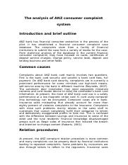 9-1903 The analysis of ANZ consumer complaint system.docx