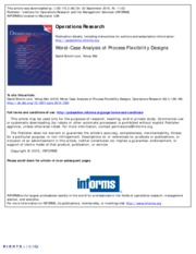 2014 Worst-case Analysis of Process Flexibility Designs