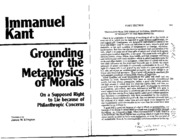 PHL101 kant_grounding metaphysics of morals lecture notes