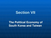 301-7 Political Economy of Korea & TW