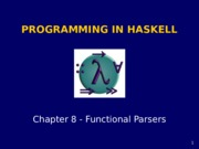 Haskell chapter8