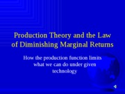 Lecture10--PRODUCTIONTHEORY
