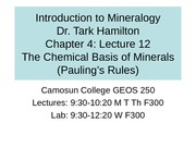 Mineralogy-Lecture-12