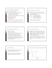 Lecture 7 - Ch 13 Risk Attitudes Notes - 6spp