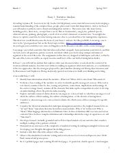 2367.02 Essay 1 Assignment - Narrative Analysis