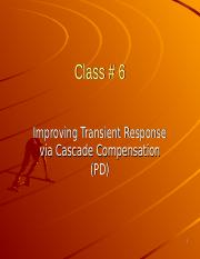 Class # 4  Improving Natural Response Via Cascade Compensation (PD).ppt