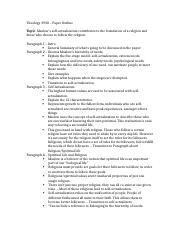 Theology 3930 – Paper Outline