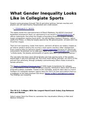 Gender - Inequality in Collegiate Sports.docx