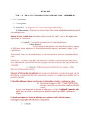 #2 Outline for The U. S. Legal System and Court Jurisdiction.docx