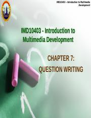 IMDChapter7-question writing