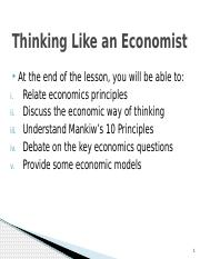 T2 Thinking Like an Economist