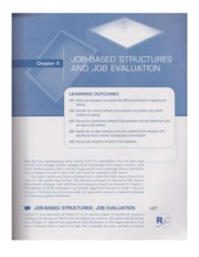 5004 Ch. 5 Job-Based Structures & Job Evaluation
