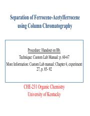 Column Chromatography Lecture(2)