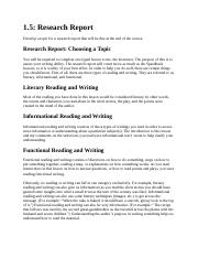 RESEARCH REPORT 1.5 Research Report.doc