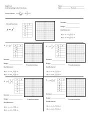 4.02 Notes Graphing Cubic Functions