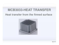 Lecture 7-Heat transfer from the finned surface 1