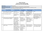 sample process recording mental health