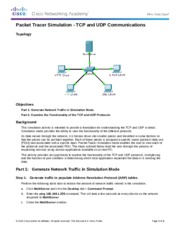 FINISHED 7.3.1.2 Packet Tracer Simulation - Exploration of TCP and UDP Instructions