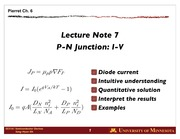 Lect 07 PN Junction I-V