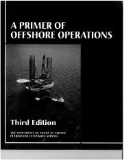 A Primer of Offshore Operations