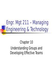 ch10 Understanding Groups and Developing Effective Teams .ppt