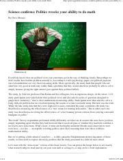 2013-0921 Science confirms- Politics wrecks your ability to do math | Grist