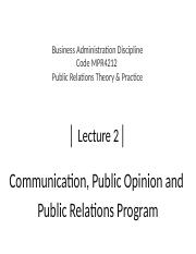 Lecture 2_Public Opinion  Managing Public Relations.pptx
