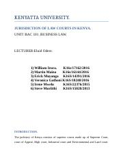 JURISDICTION OF LAW COARTS IN KENYA.docx