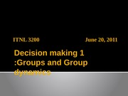 Lecture 10. Decision making