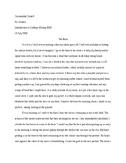Into to College Writing Essay # 1