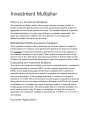 investment multiplier