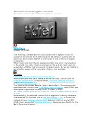 Who Is Haier.docx