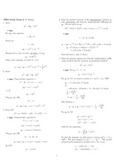 Exam 2 Study Guide Solution on Engineering Mathematics III (Numerical Methods) Spring 2009